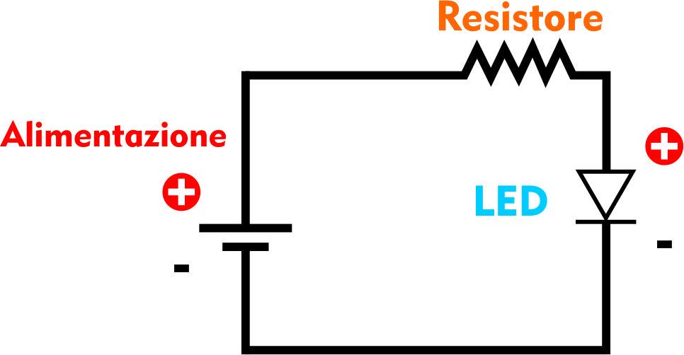 Schema Elettrico Per Lampeggio Led : Abc elettronica led lo accendiamo